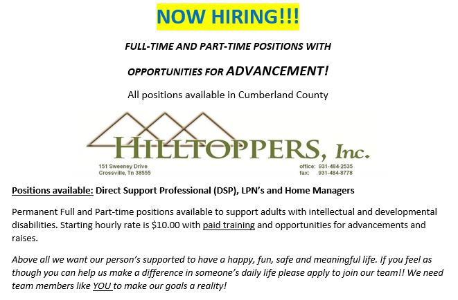 Employment Opportunities - Hilltoppers
